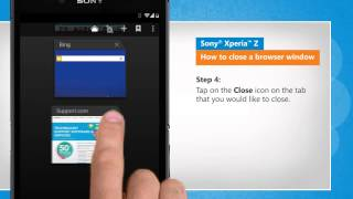 How to close a browser window in Sony® Xperia™ Z