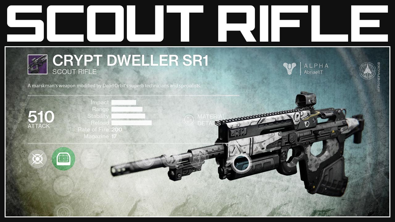 Destiny guide weapons scout rifle destiny gameplay youtube