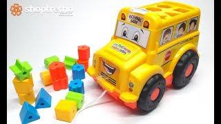 Ô tô đồ chơi, ô tô bus, ô tô bus thả nhạc đồ chơi cho bé yêu
