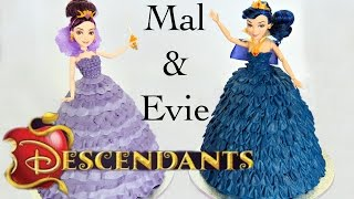 Mal & Evie Descendants Doll Cake - CAKE STYLE