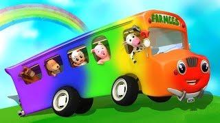 Wheels on the Bus | Nursery Rhymes | Baby Songs & Kids Cartoon Videos