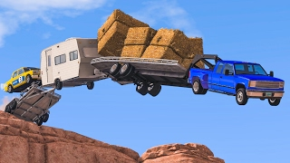 CLIFF JUMPS & CRASHES #4 - BeamNG Drive