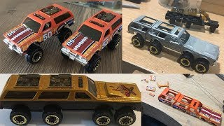 custom hot wheels chevy 8X8 monster truck suv off roader