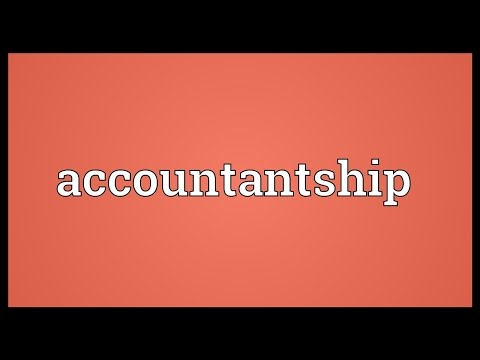 Header of Accountantship