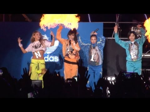 2ne1 'fire' Live On Snoop Doog Concert (스눕독 내한공연) video