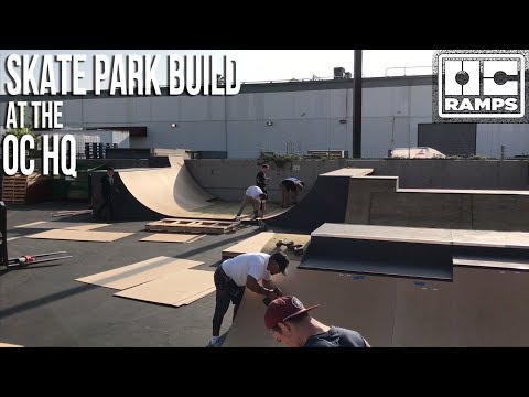 Building the OC HQ Skate Park