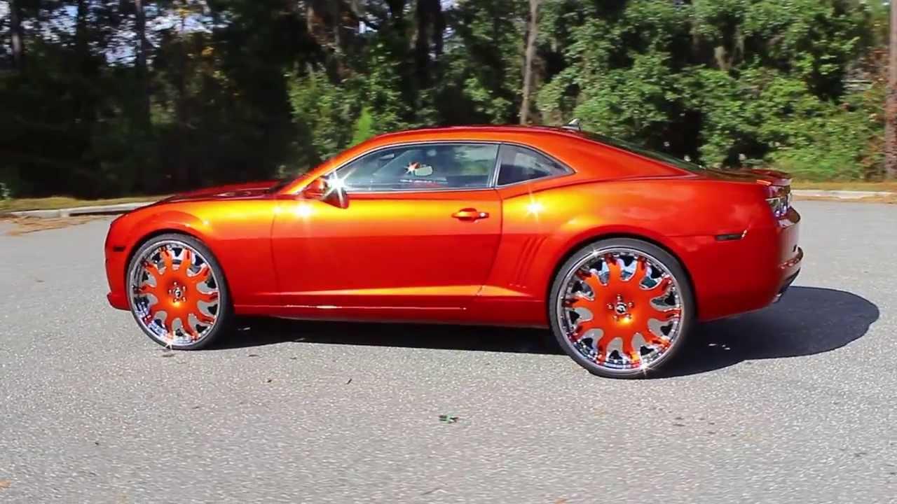 Candy Tangerine Faded Camaro On 26 Quot Forgiato Grassetto