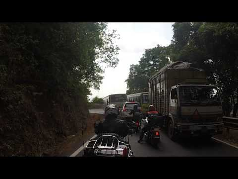 Riding Harley in Winding roads of Western Ghats of Goa