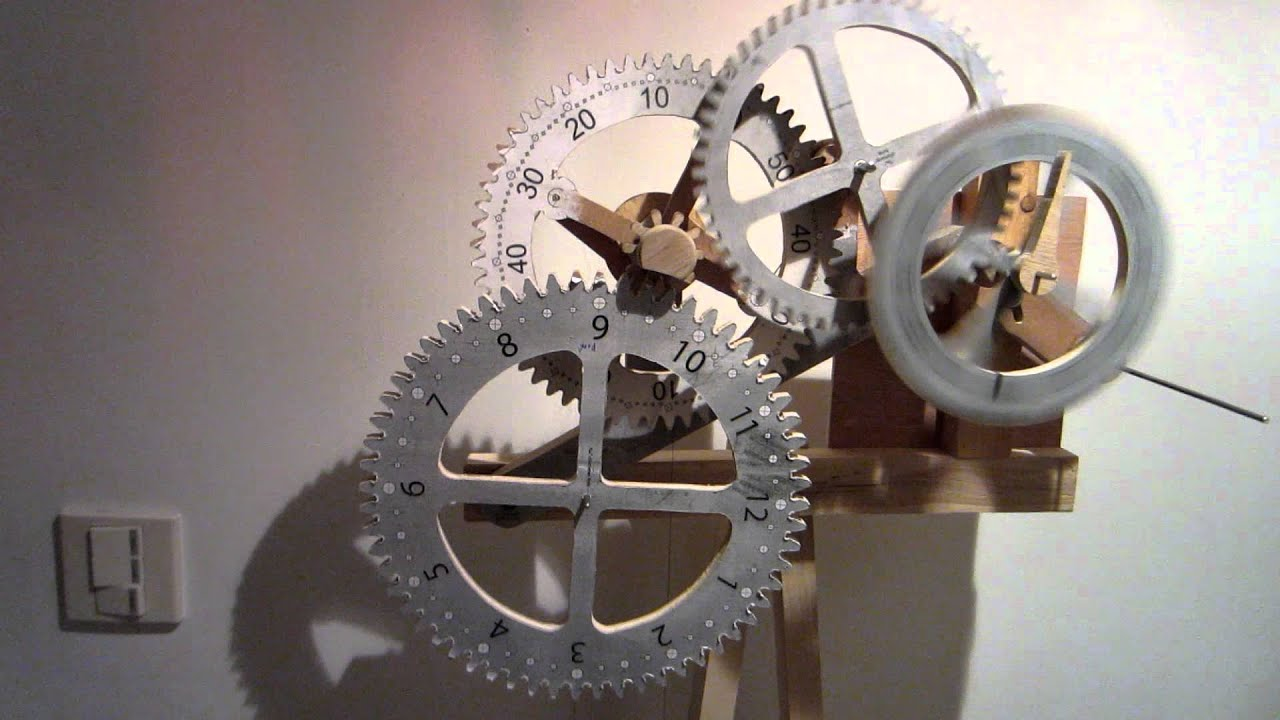 Time is Flying By!!! Wooden scroll saw gear clock project, spin trial ...