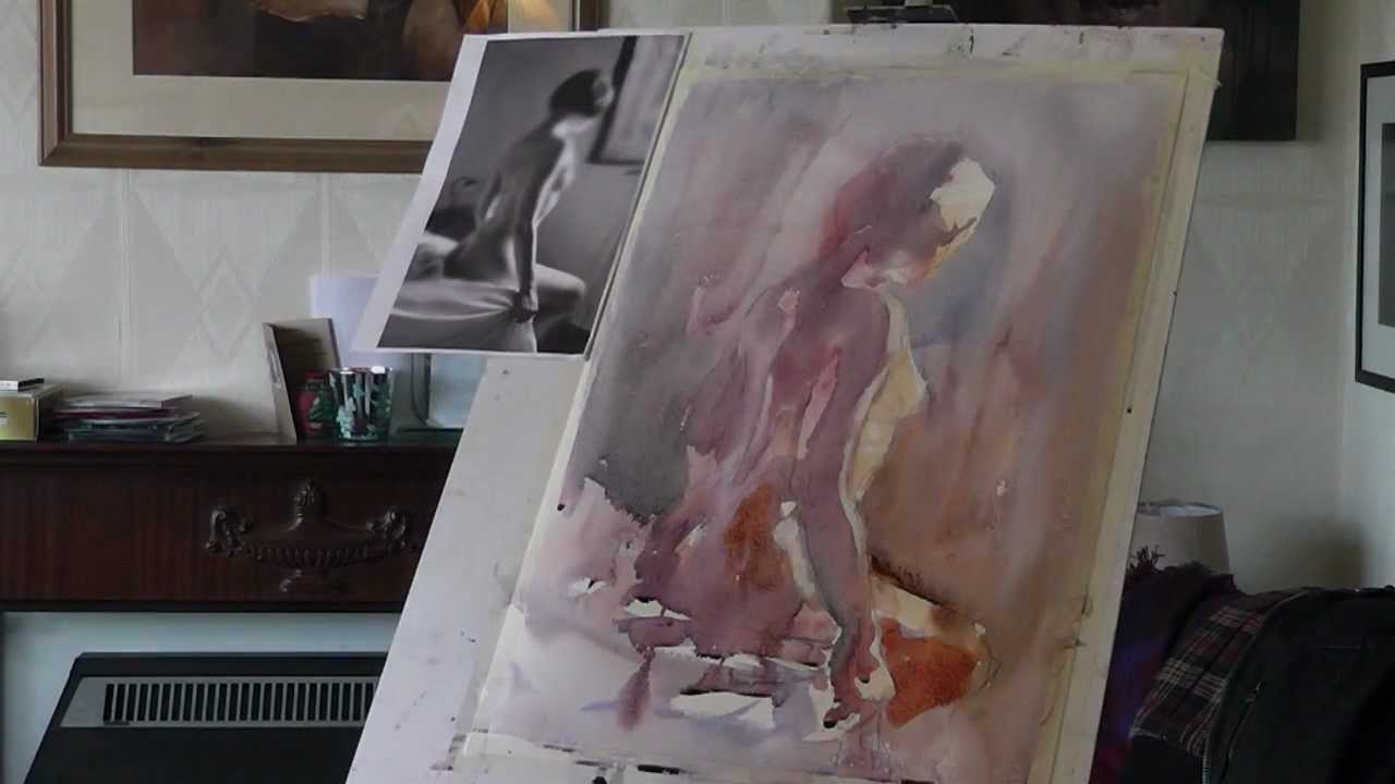 Nude painting   Etsy
