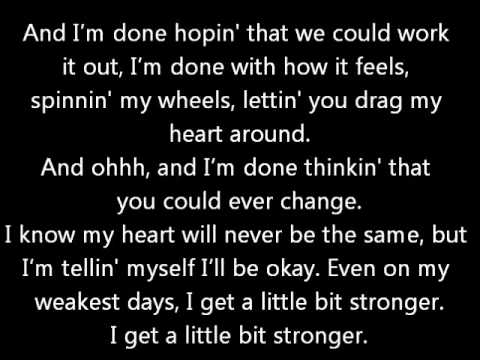 A Little Bit Stronger - Sara Evans (w/ lyrics) Music Videos