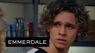 Emmerdale - A Horrified Jacob Discovers Liv Has Recorded His Confession