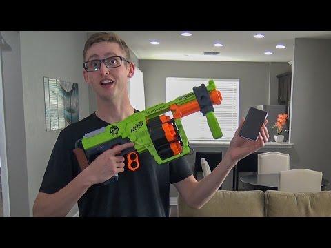 iPhone vs. Nerf Gun - YOU WON'T BELIEVE WHAT HAPPENS!