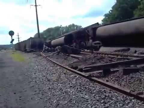 7/20/2014 Train derailment in Nisbet