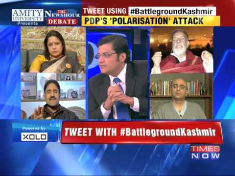 The Newshour Debate: Battleground Kashmir - FULL EPISODE (18th Nov 2014)
