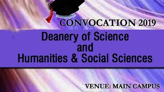 Convocation 2019 - Deanery of Science and Humanities and Social Sciences