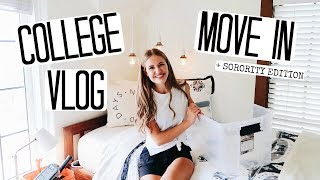 COLLEGE MOVE IN VLOG! MOVING INTO MY SORORITY AT UO!