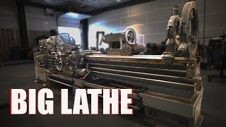 Big Metal Lathe Setup and Leveling