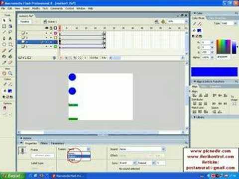 Flash Dersleri-Motion Tween Örnek 1-www.ilerikontrol.com