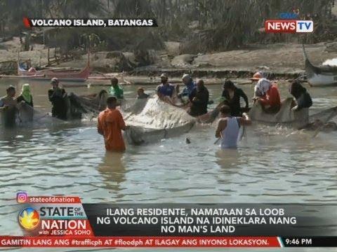 SONA: Ilang residente, namataan sa loob ng Volcano Island na idineklara nang no man's land