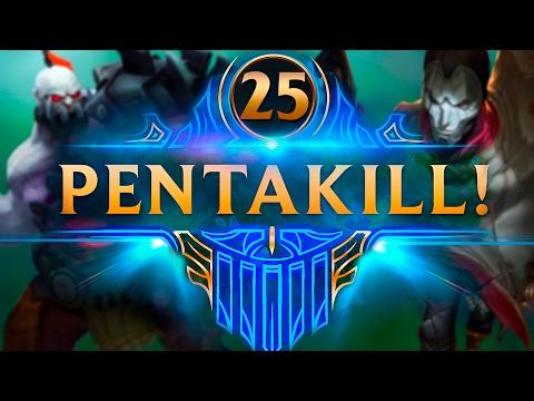 PENTAKILL LVL 1 MATANDO 4 CAMPEONES | TOP PENTAKILLS #25