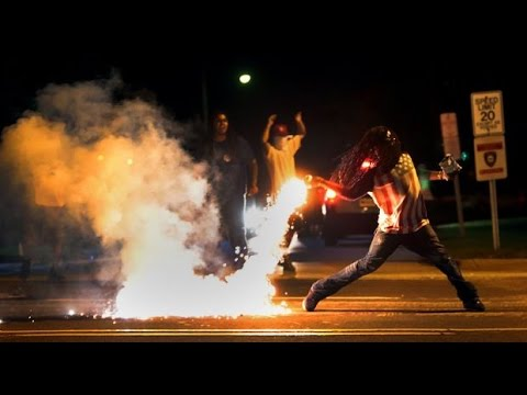 Ferguson is Full of Tear Gas | Over Black Teen Killed  Police # MikeBrown