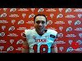Utah Football Postgame Media at Colorado