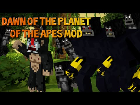 Minecraft: DAWN OF THE PLANET OF APES MOD! (Caesar Boss Mob, Ape Planet and more)
