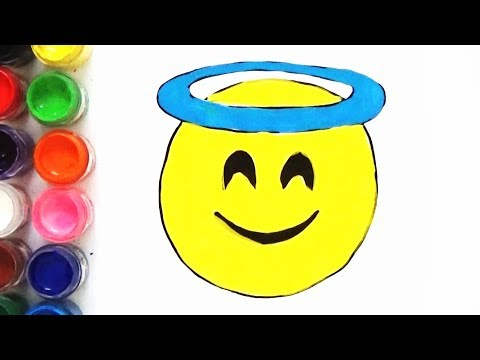 How to Draw and Color Smiling Face With Halo Emoji | Art For Kids | BoDraw