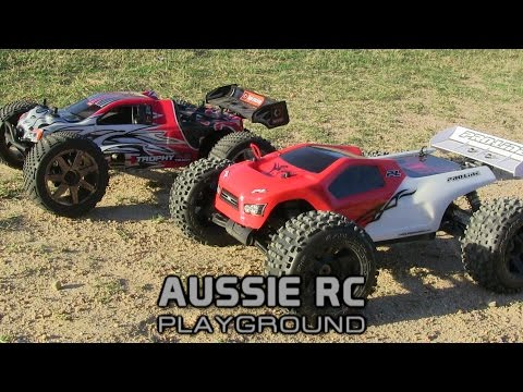 RC RACE WARS: Thunder Tiger ST4 vs HPI Trophy Truggy 4.6 Nitro