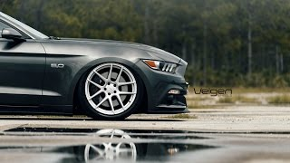 Bagged 2015 Mustang GT on Velgen Wheels