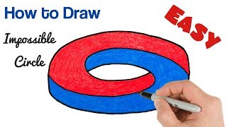 How to Draw Optical Illusion - Impossible Circle Drawing Art Tutorial