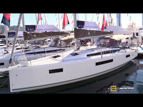 2019 Jeanneau Sun Odyssey 410 - Deck and Interior Walkaround - 2018 Cannes Yachting Festival