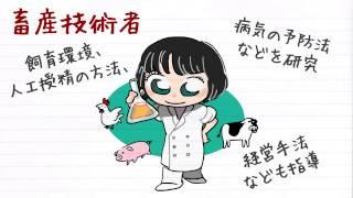 職業紹介【畜産技術者篇】~将来の仕事選びに役立つ動画