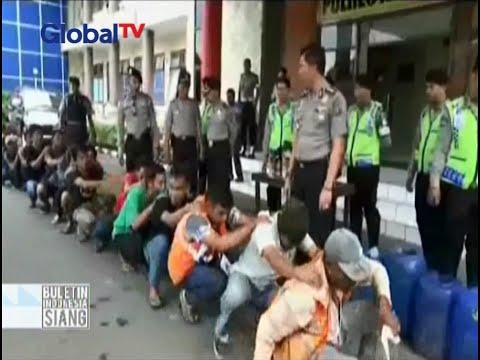 Antisipasi kejahatan, polisi Palembang gelar razia preman dan beri hukuman jalan jongkok - BIS 27/05