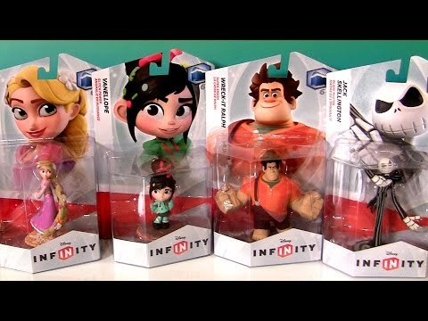 Disney Infinity Rapunzel Wreck It Ralph Jack Skellington Disney Frozen Princess Store Display Case