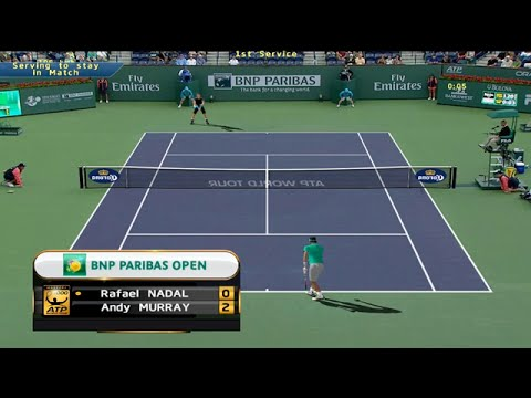 Tennis Elbow 2014  Indian Wells 2015 - Rafael Nadal vs Andy Murray GAMEPLAY 2015