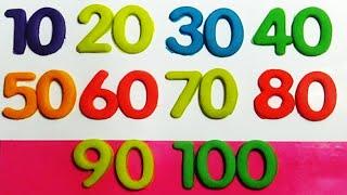 Dạy bé học đếm số | Trò chơi đất sét nặn Play-doh | Dạy bé nhận biết màu sắc 3