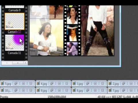 Tutorial Montagem com varias fotos e efeitos parte 1 (1/2)