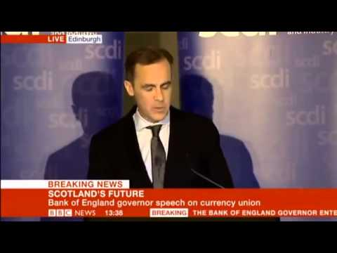 Governor of the Bank of England Mark Carney - 'The Economics of currency unions'