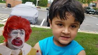 McDonald's Drive Thru Fun with Ronald McDonald | Kids Driving to McDonalds for Happy Meal