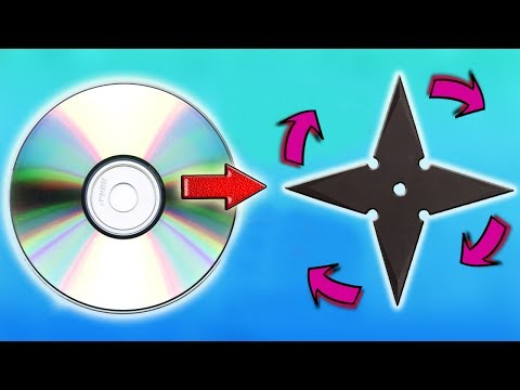 How to make Spinner - Ninja Star with old CDs | Life Hack