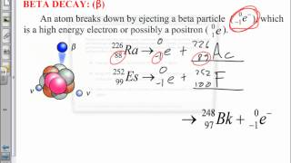 Alpha, Beta & Gamma Decay - SCH3U