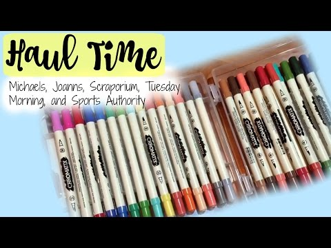 Haul Time! Michaels, Tuesday Morning, Joanns, Scraporium, and Sports Authority!