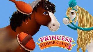 Fun Animal Horse Care - Princess Pony Club Hair Salon Makeover Dress Up