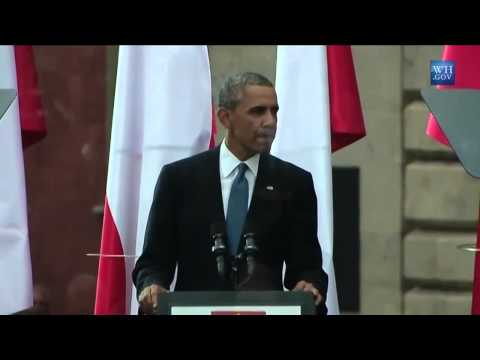 Obama Warsaw speech: You will never stand alone