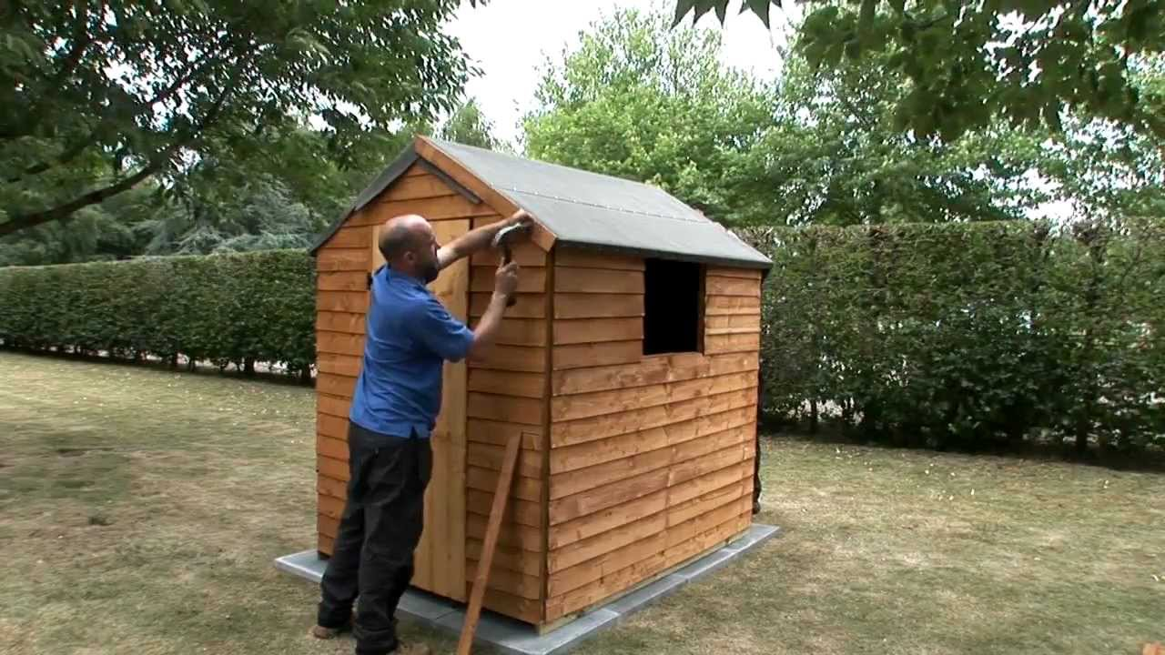 how to fix a felt roof to a garden shed youtube. Black Bedroom Furniture Sets. Home Design Ideas