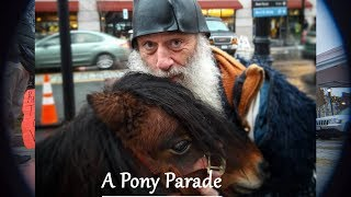 Vermin Supreme Unleashes Pony Parade on Hillary Clinton Fans