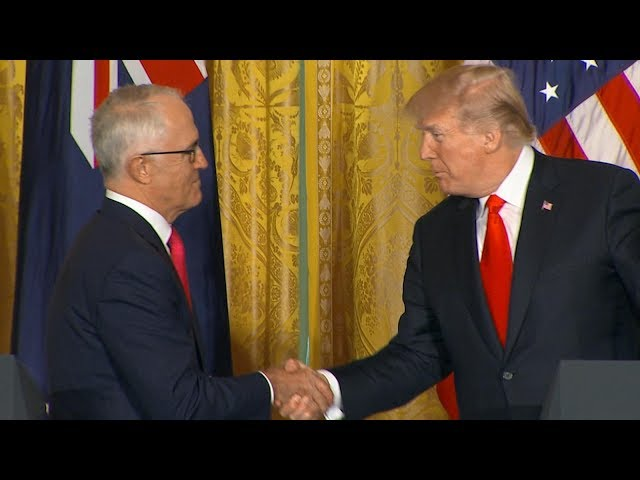 President Donald Trump Australian Prime Minister Turnbull hold joint news conference  ABC News