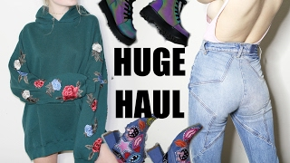 HUGE TRY ON CLOTHING HAUL + Dollskill, LF, Subdued, Free People